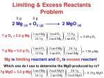 limiting excess reactants problem1