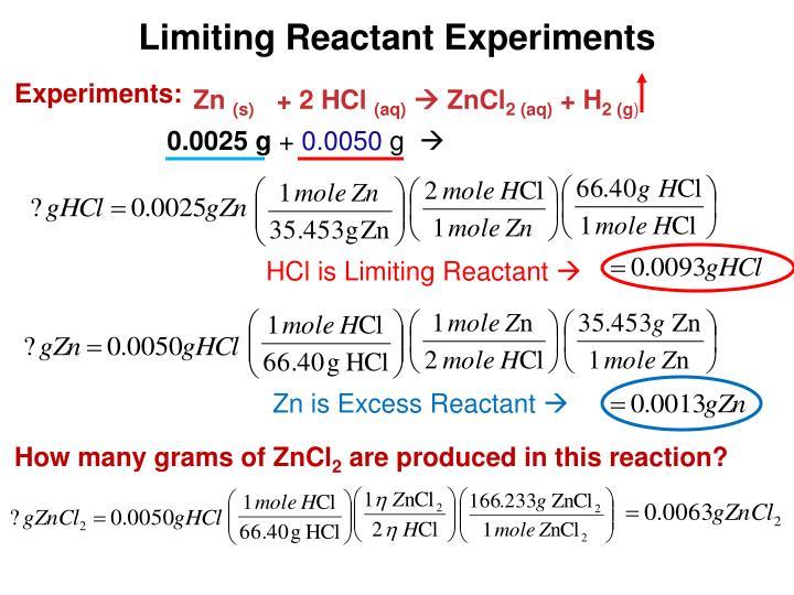 Limiting Reactant Experiments