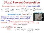 mass percent composition