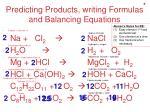 predicting products writing formulas and balancing equations