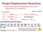single displacement reactions1