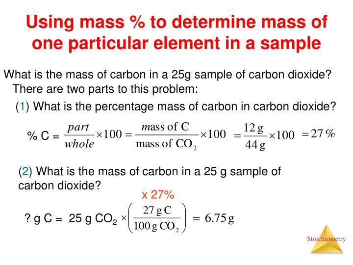 Using mass % to determine mass of one particular element in a sample