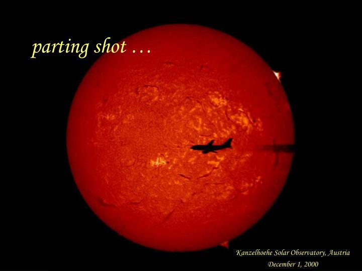 parting shot …