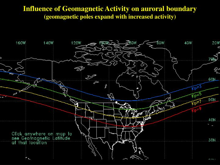Influence of Geomagnetic Activity on auroral boundary