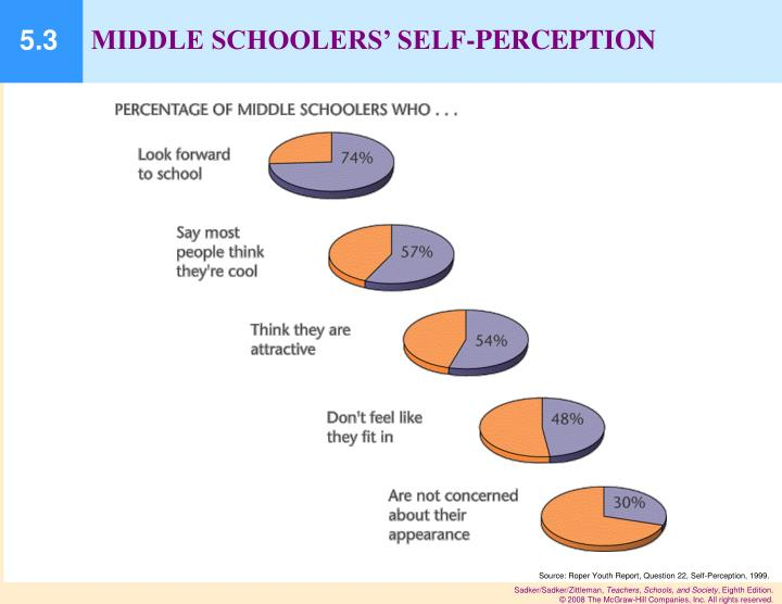 MIDDLE SCHOOLERS' SELF-PERCEPTION