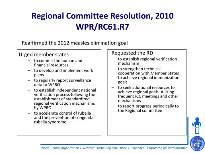 Regional committee resolution 2010 wpr rc61 r7