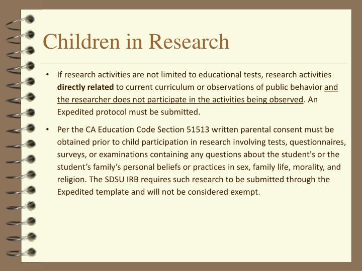 Children in Research