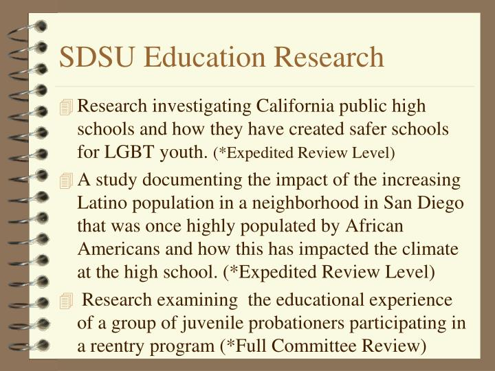 SDSU Education Research
