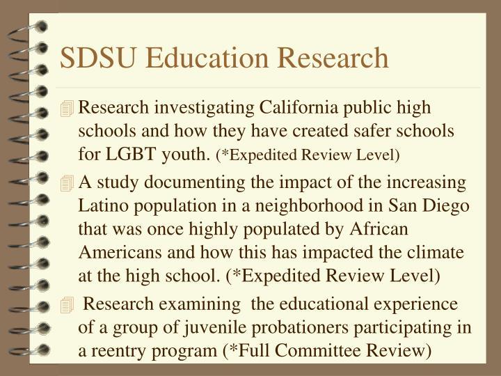 SDSU Education Research