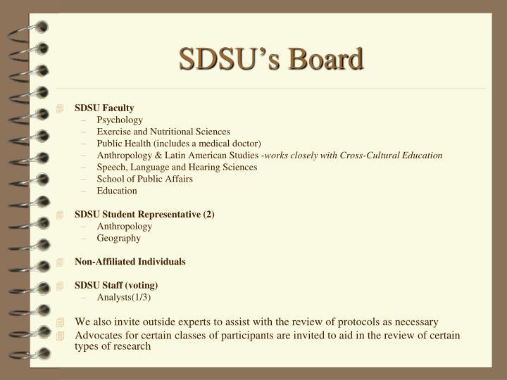 SDSU's Board