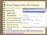 upload supporting documents