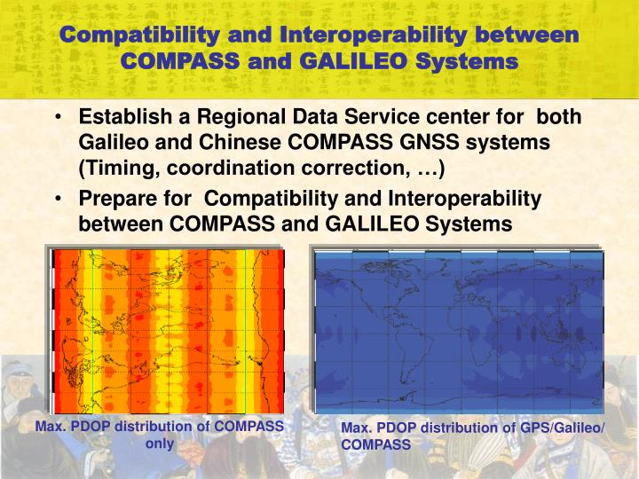 Compatibility and Interoperability between COMPASS and GALILEO Systems