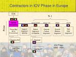 contractors in iov phase in europe