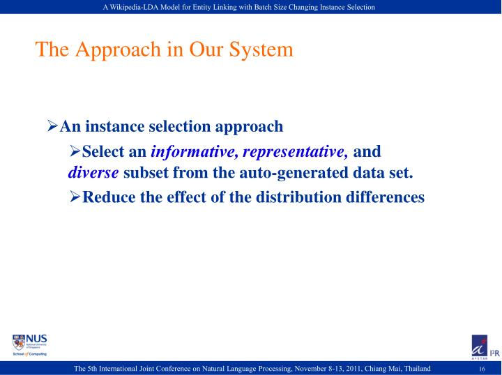 The Approach in Our System