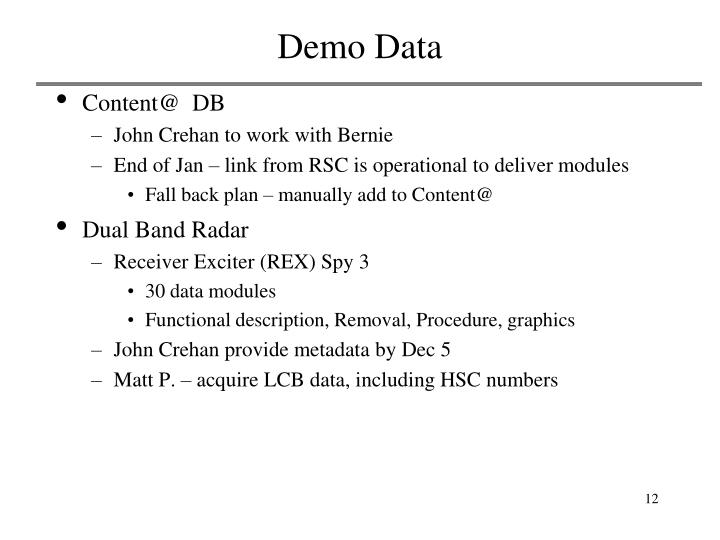 Demo Data