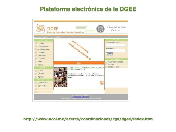 Plataforma electrónica de la DGEE