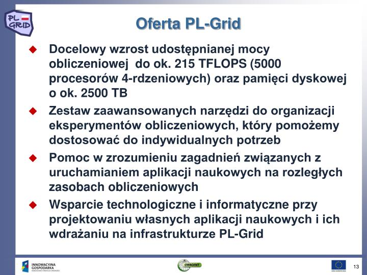 Oferta PL-Grid