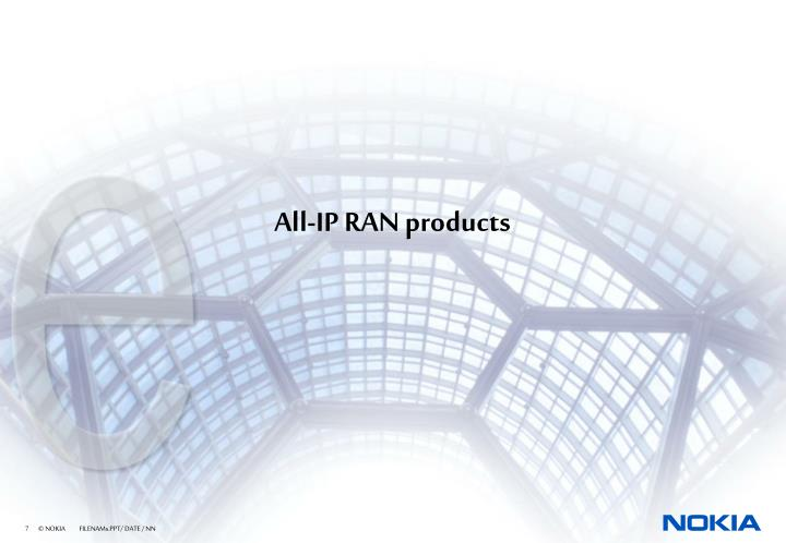 All-IP RAN products