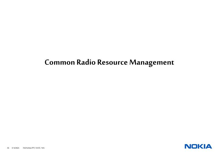 Common Radio Resource Management