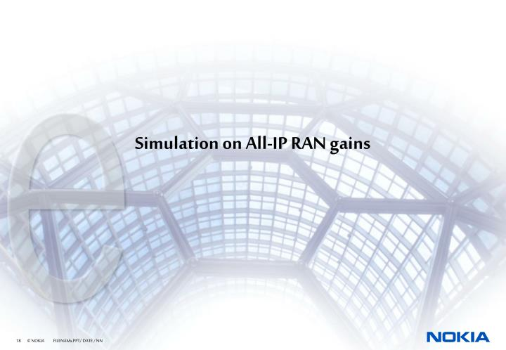 Simulation on All-IP RAN gains