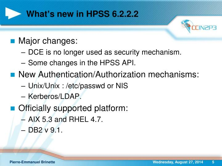 What's new in HPSS 6.2.2.2