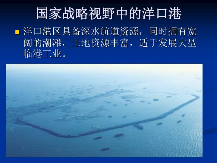 国家战略视野中的洋口港