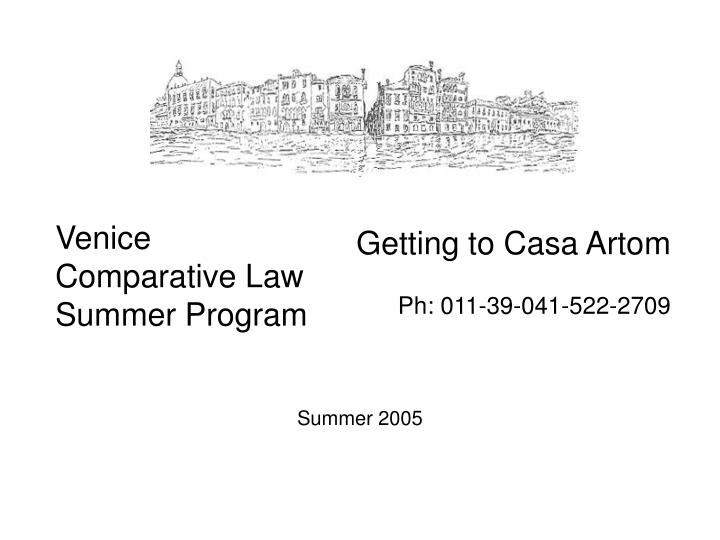 Venice comparative law summer program
