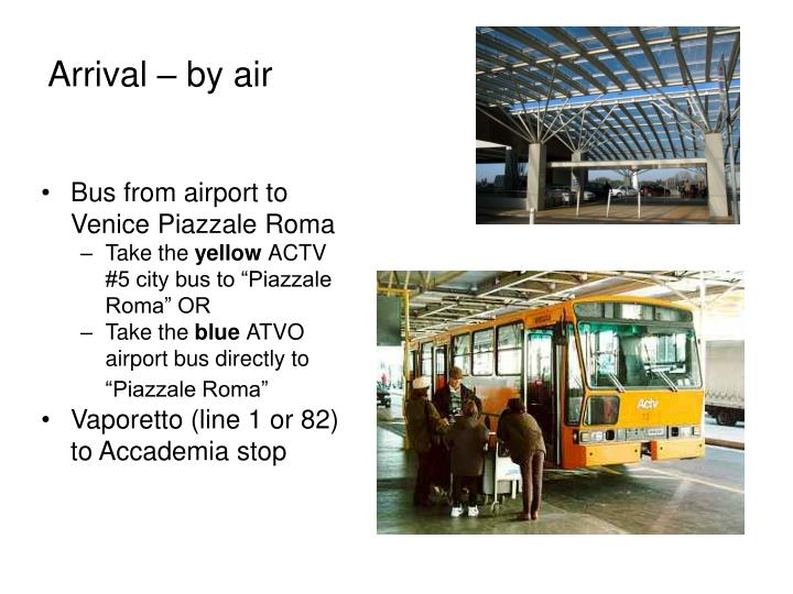 Bus from airport to Venice Piazzale Roma