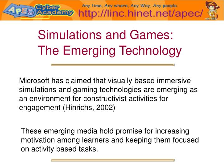 Simulations and Games: