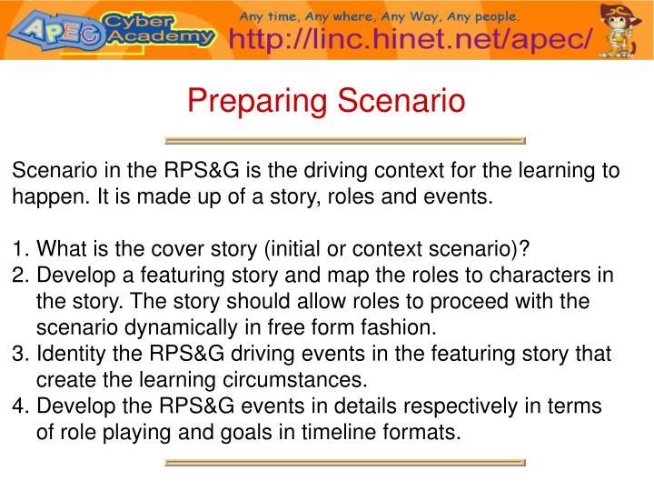 Preparing Scenario