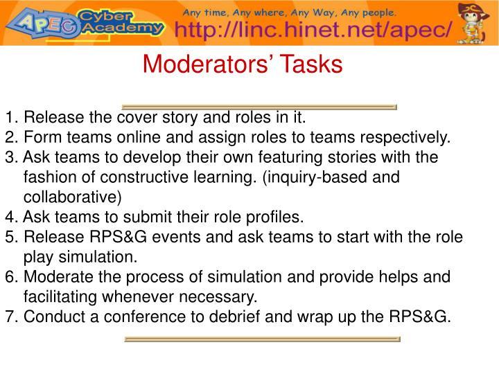 Moderators' Tasks
