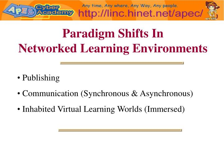 Paradigm Shifts In