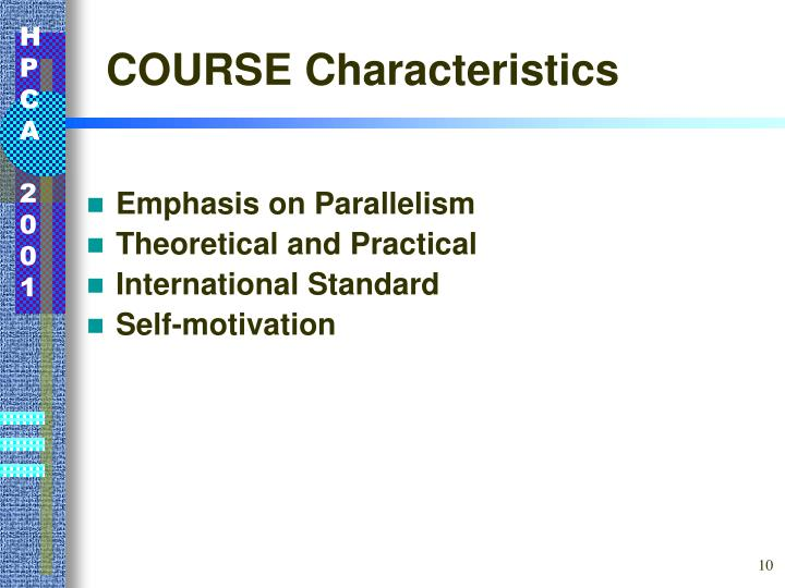 COURSE Characteristics