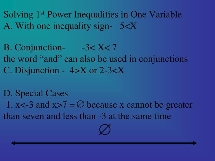 Solving 1