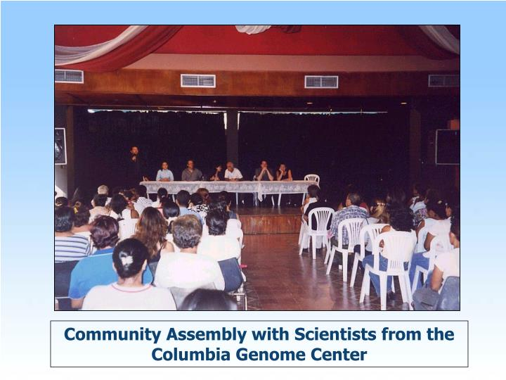 Community Assembly with Scientists from the Columbia Genome Center