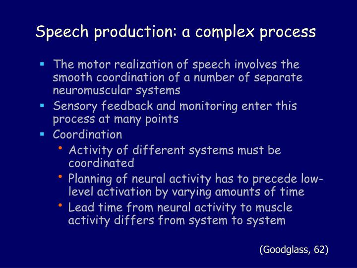 Speech production: a complex process
