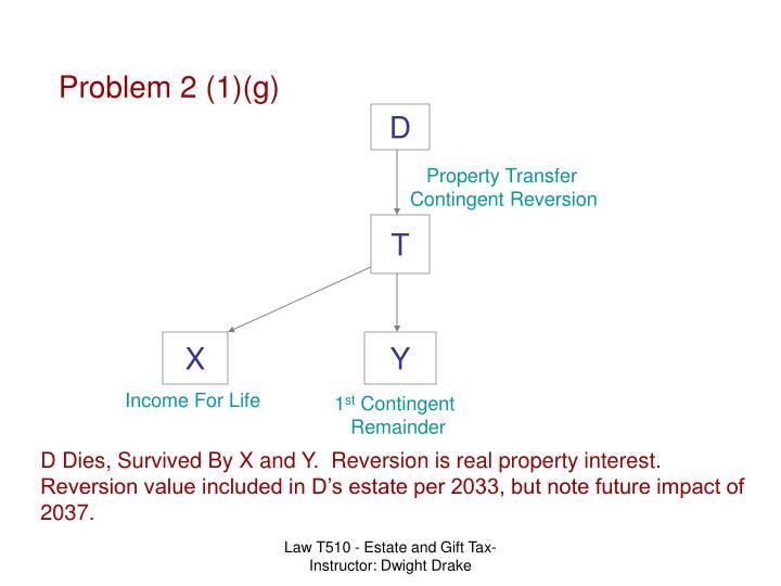 Problem 2 (1)(g)