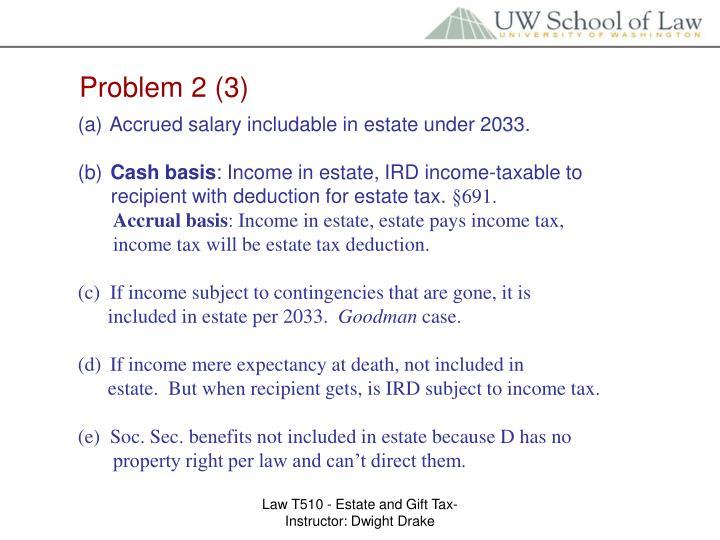 Problem 2 (3)