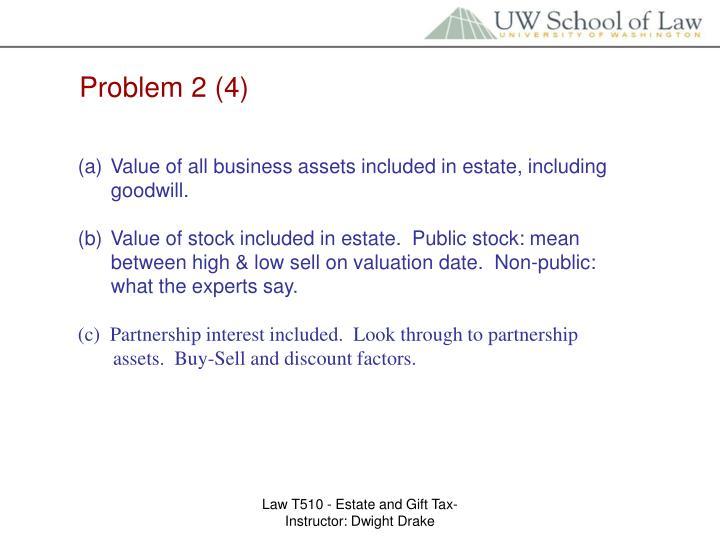 Problem 2 (4)