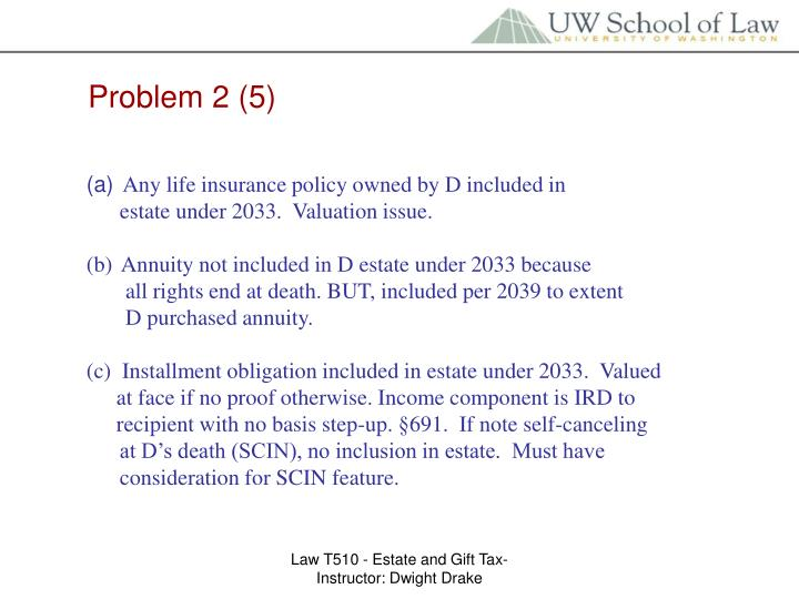 Problem 2 (5)