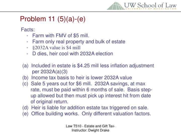Problem 11 (5)(a)-(e)