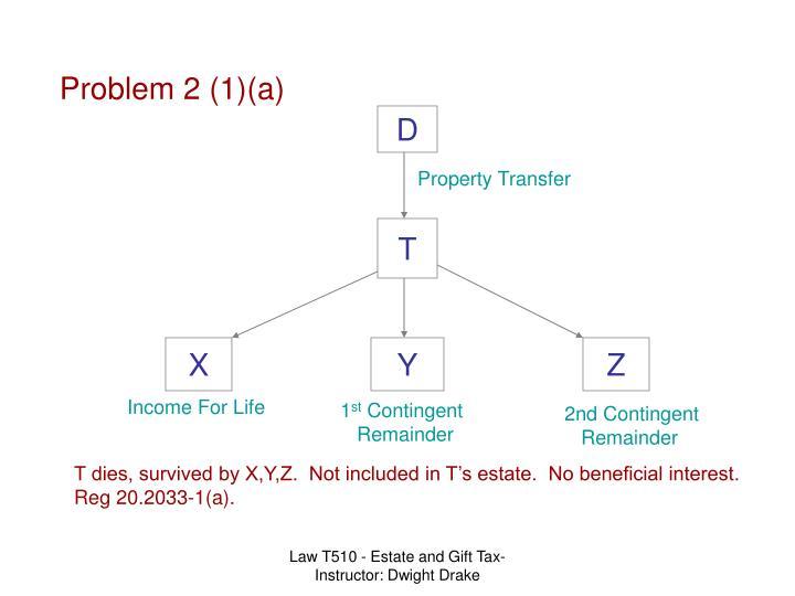 Problem 2 (1)(a)