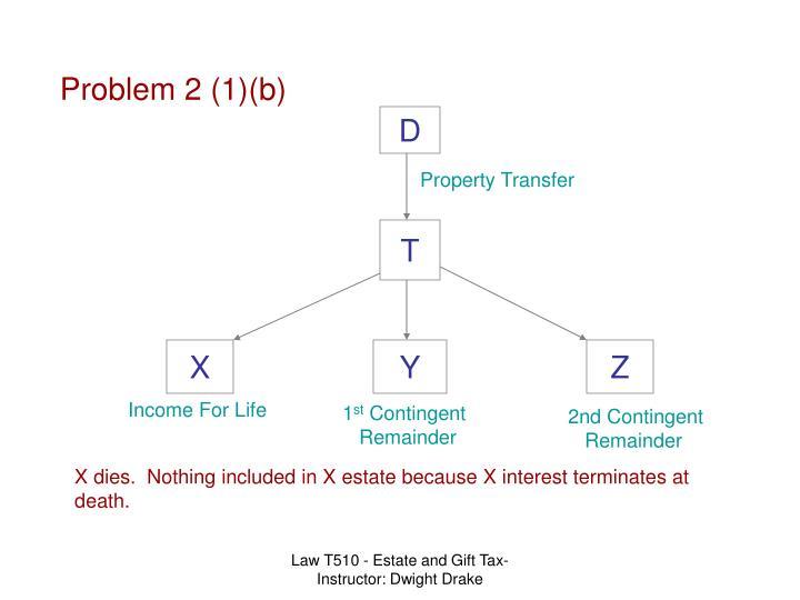Problem 2 (1)(b)