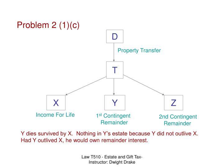 Problem 2 (1)(c)