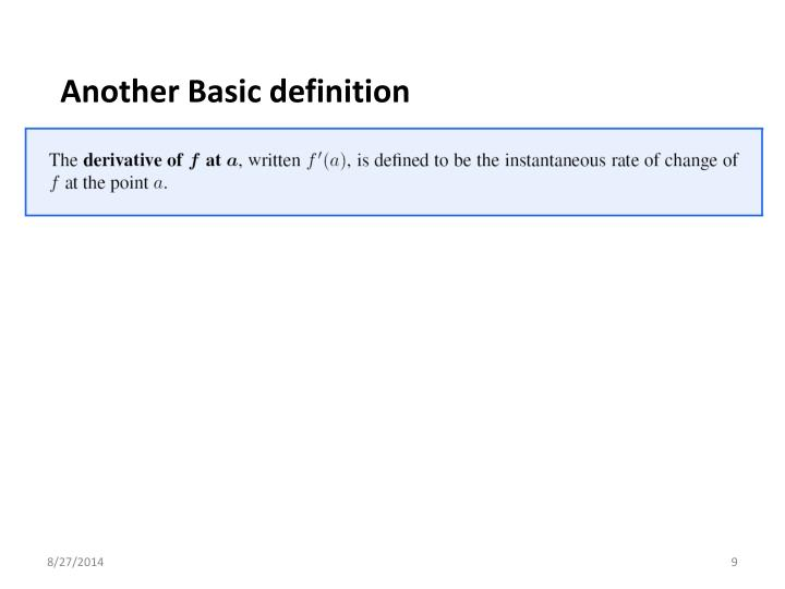 Another Basic definition