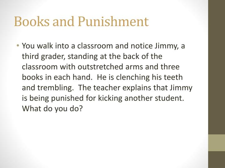 Books and Punishment
