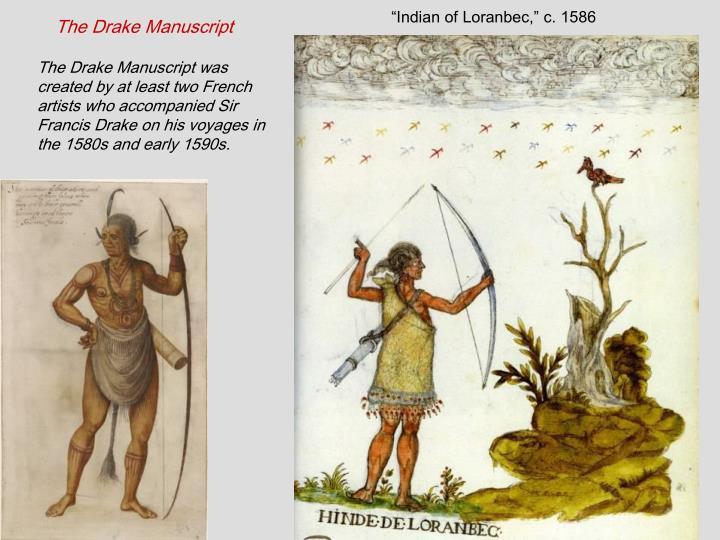 """""""Indian of Loranbec,"""" c. 1586"""