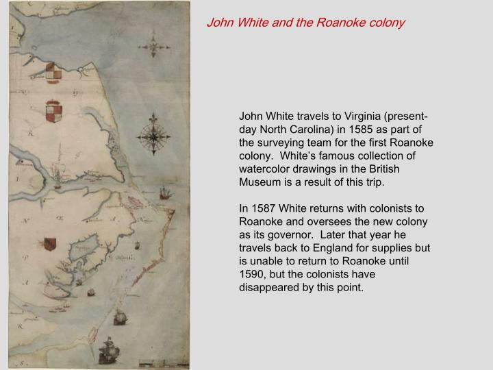 John White and the Roanoke colony