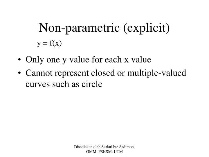 Non-parametric (explicit)
