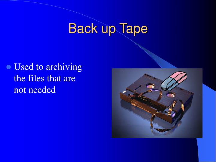 Back up Tape